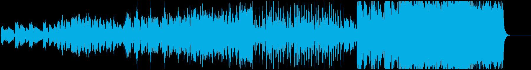 壮大でなめらかなメロディーの再生済みの波形