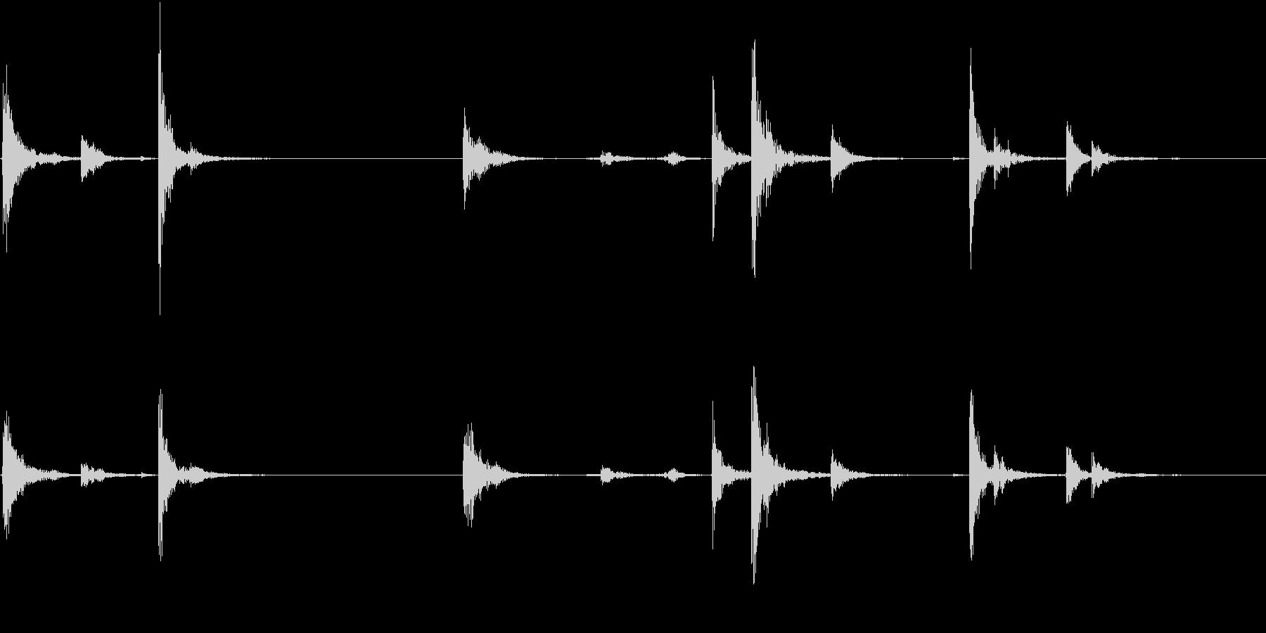 【生録音】お箸の音 23 まとめて片付けの未再生の波形