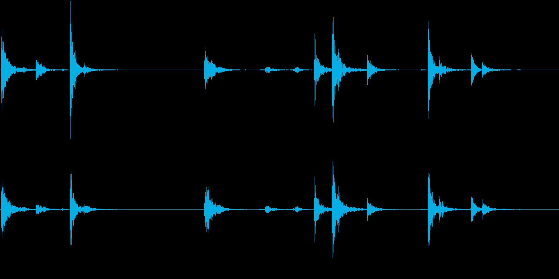 【生録音】お箸の音 23 まとめて片付けの再生済みの波形