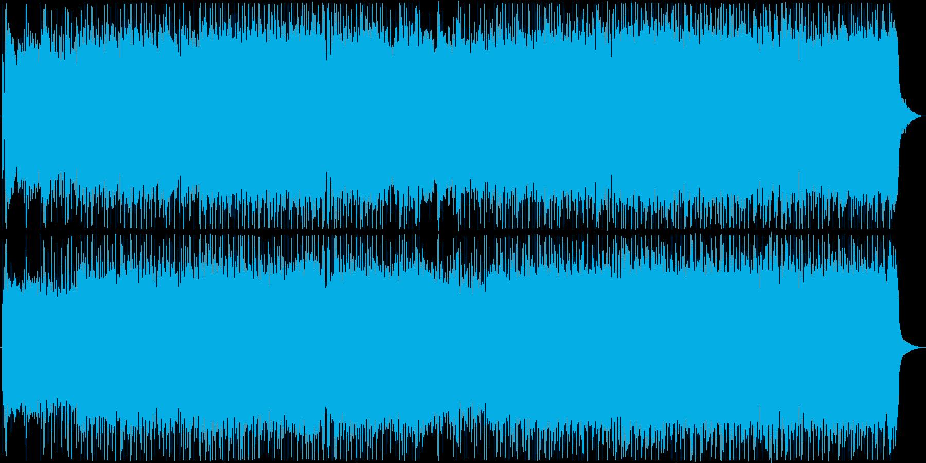 躍動感溢れるロックミュージック!の再生済みの波形
