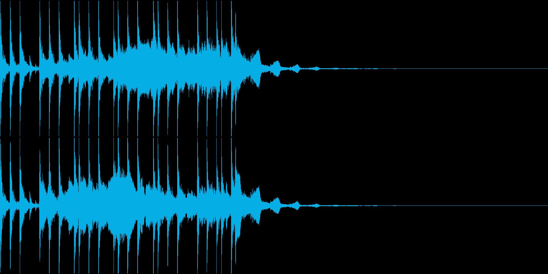 和風尺八ドラムのオープニングの再生済みの波形
