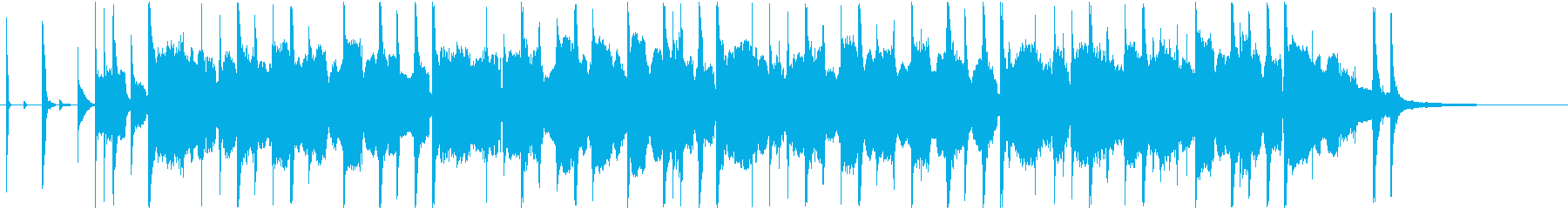 ベースラインがおしゃれなトラップBGMの再生済みの波形