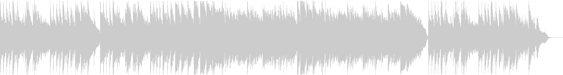 ピアノ主体のキラキラしたヒーリングの未再生の波形