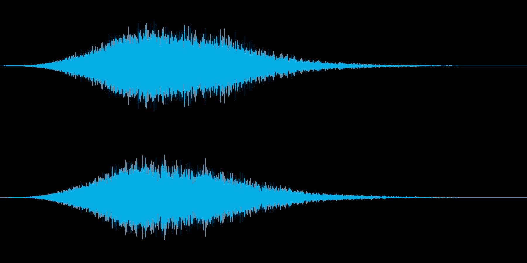 FMラジオジングル効果音SWEEPERの再生済みの波形