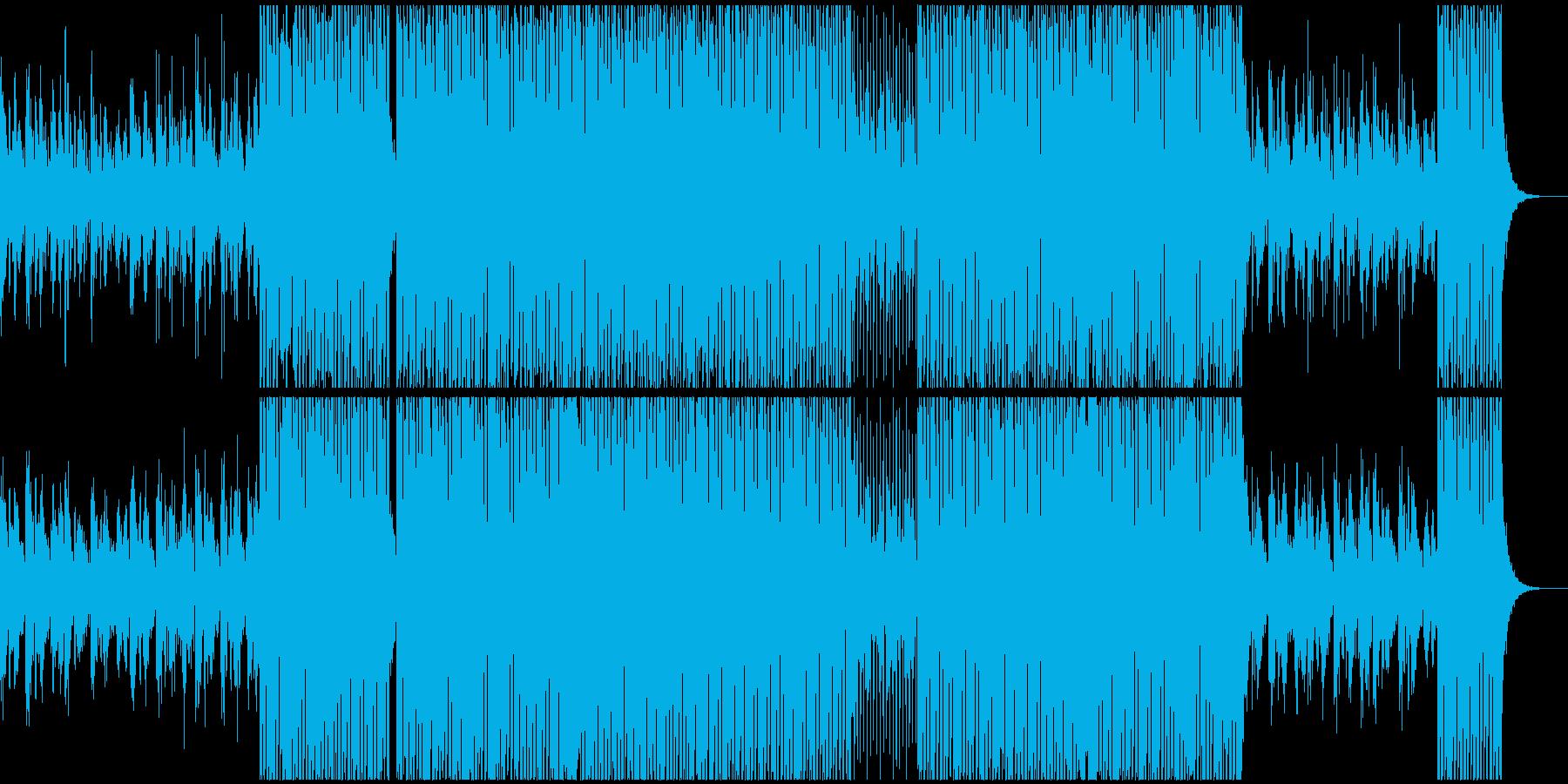 揺らぐ,流れるような爽やかテクノの再生済みの波形