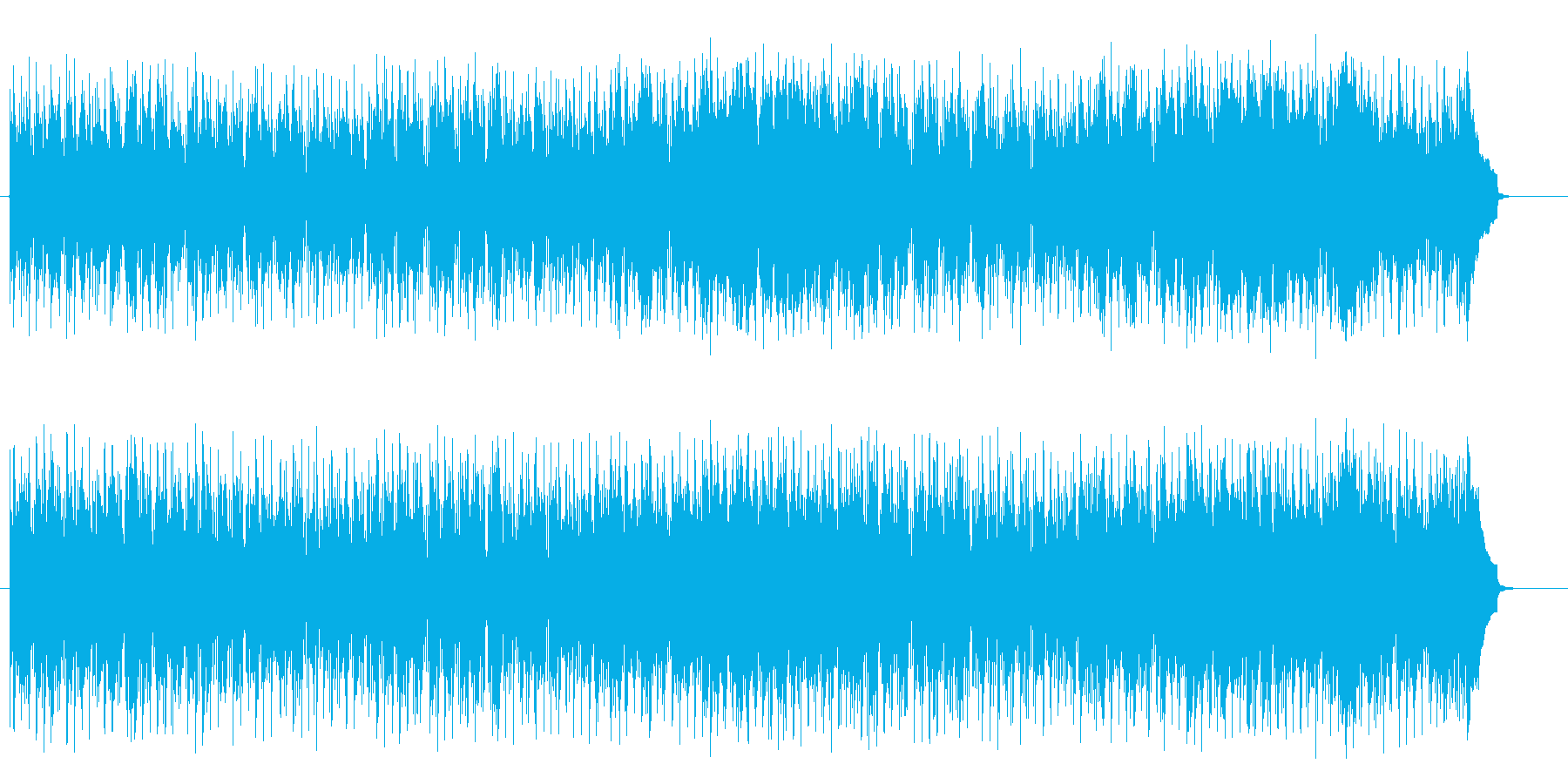 穏やかで地中海的なボサノバ風ポップスの再生済みの波形