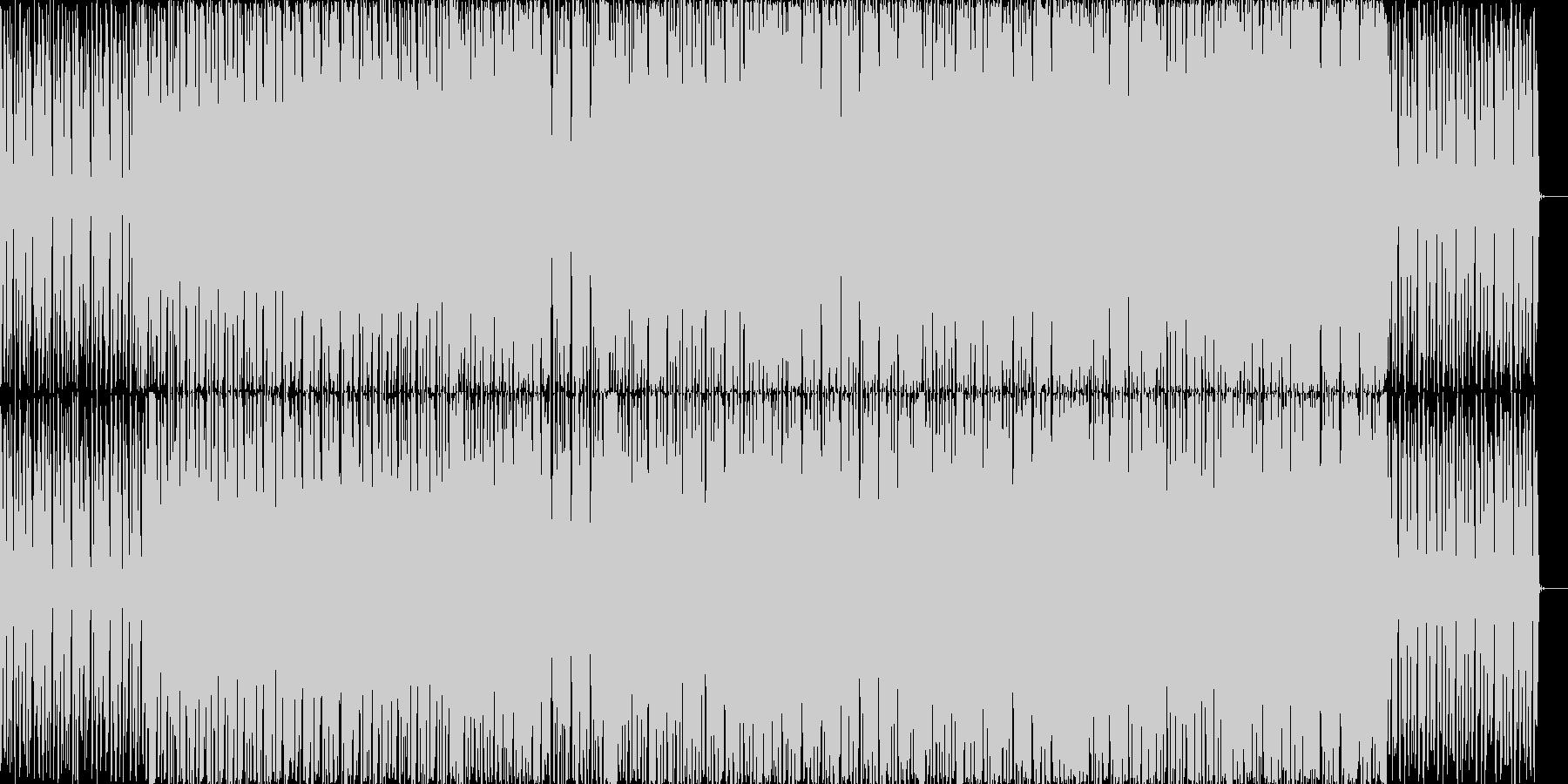 明るめのチップチューン風テクノの未再生の波形