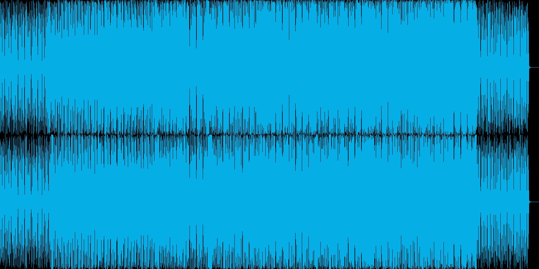 明るめのチップチューン風テクノの再生済みの波形