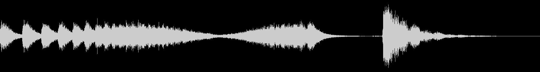 和風な歌舞伎の附け木フレーズ ジングル2の未再生の波形