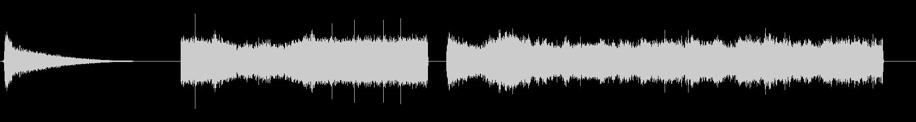 重い蒸気蒸気放出の未再生の波形