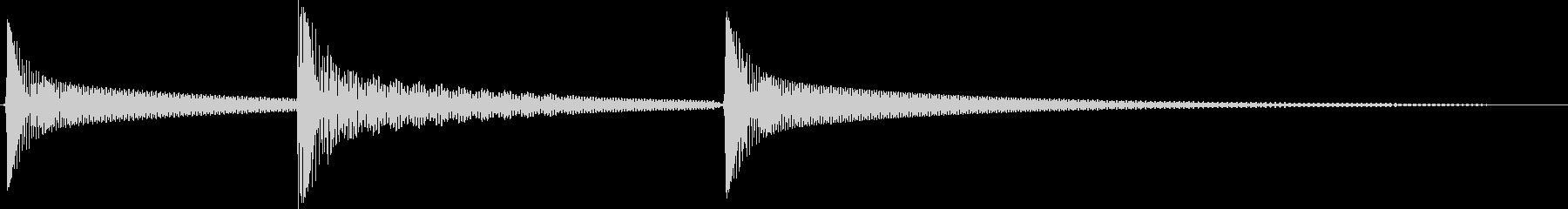 シンプルなSE 失敗音 キャンセル音の未再生の波形