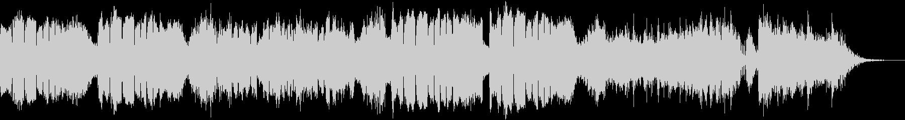 低音の金管楽器による力強いBGM~闘い~の未再生の波形