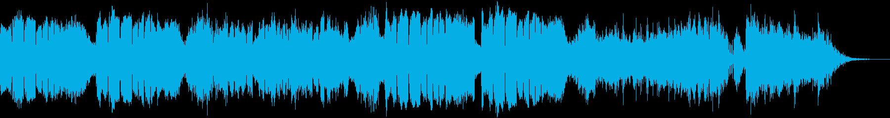 低音の金管楽器による力強いBGM~闘い~の再生済みの波形
