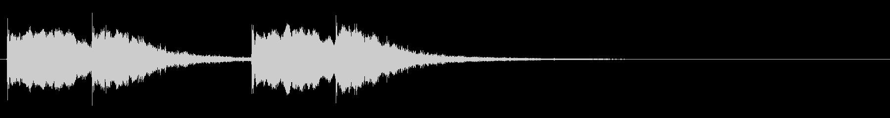 ハンドベルのかわいいピンポンの音2の未再生の波形