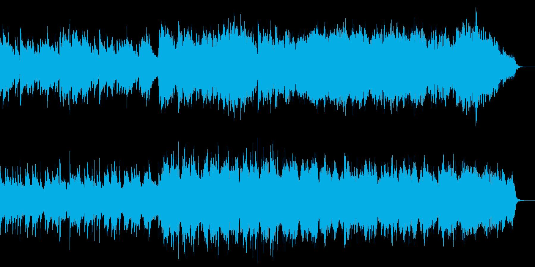 日常シーン向けのピアノストリングス曲の再生済みの波形