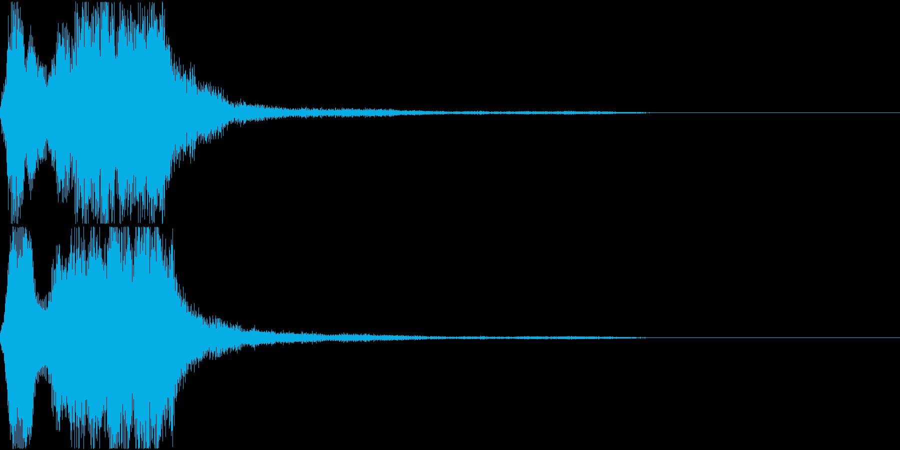 ラッパ ファンファーレ 定番 4 早いの再生済みの波形