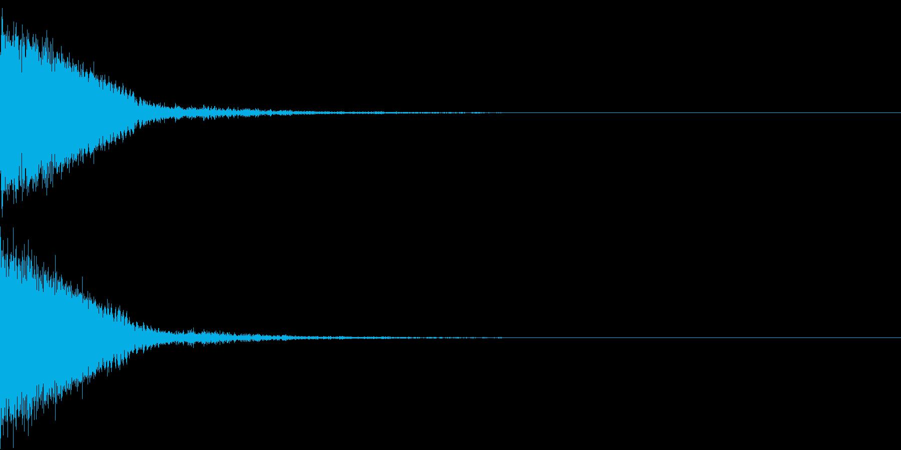 刀 剣 カキーン シャキーン 目立つ16の再生済みの波形