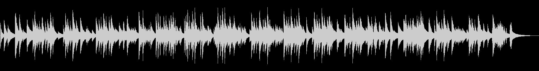 スローで静かなジャズラウンジピアノソロの未再生の波形