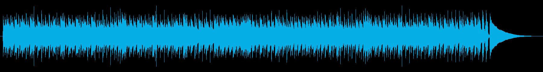明るく軽快な曲です。の再生済みの波形