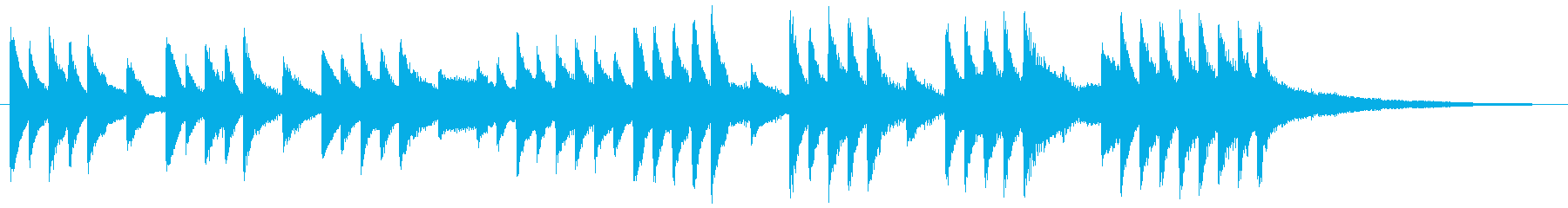 Crying piano jingle's reproduced waveform
