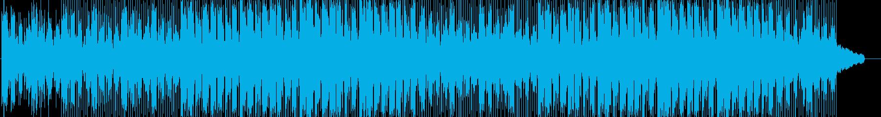 静かで落ち着いた雰囲気のアンビエント曲の再生済みの波形