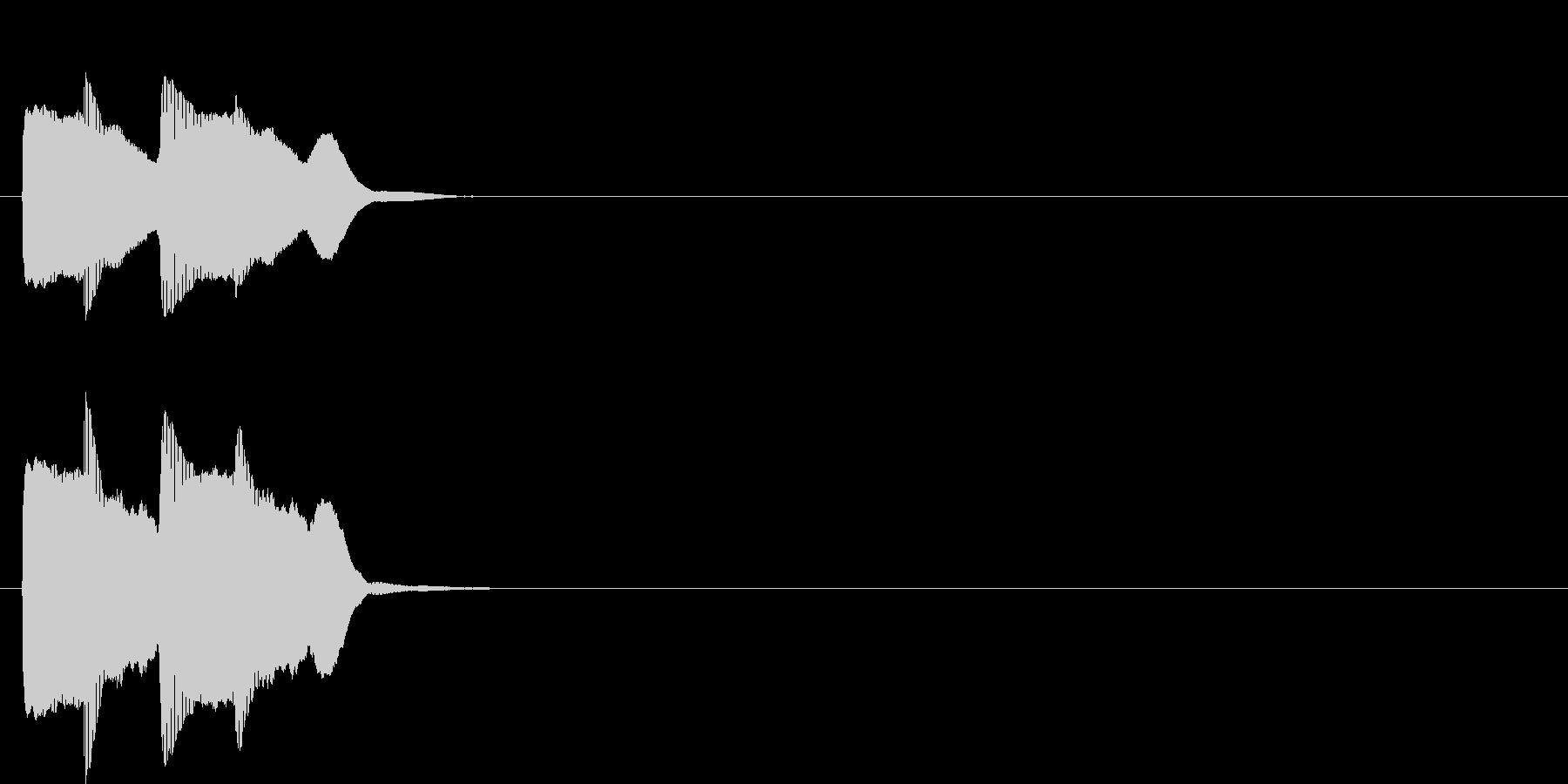 汎用アラート音02(低)の未再生の波形