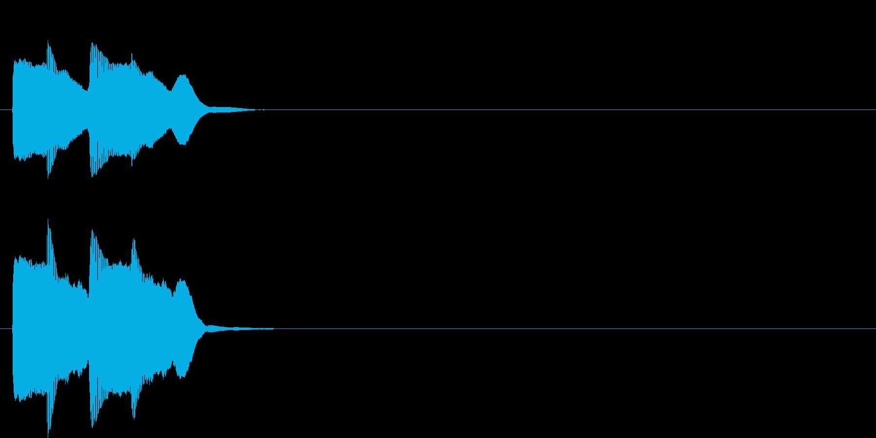 汎用アラート音02(低)の再生済みの波形