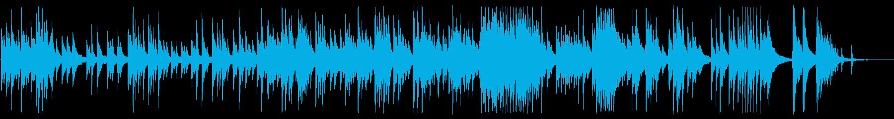 優しいメロディのソロピアノ曲の再生済みの波形
