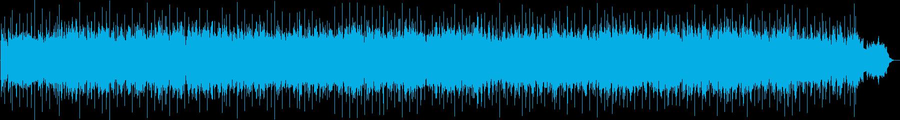 ふわふわとした雰囲気のスローBGMの再生済みの波形