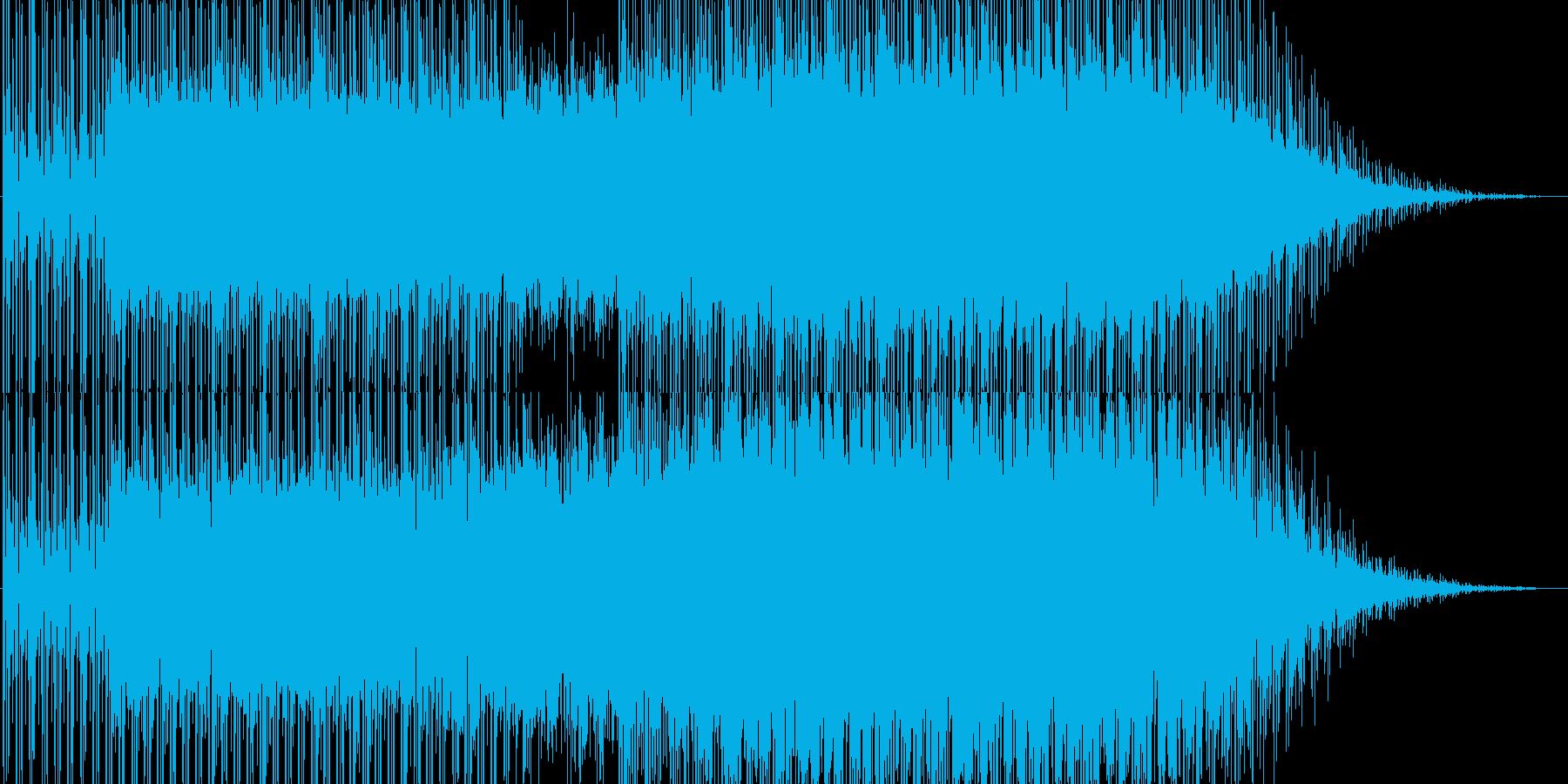 フルートの残響が綺麗なテクノの再生済みの波形