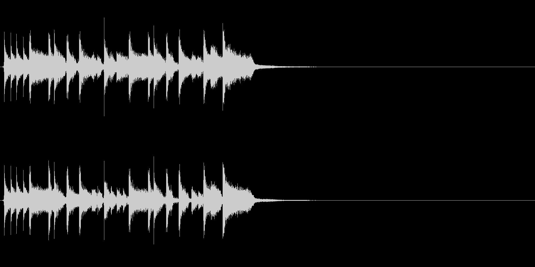 生演奏 ロックファンクなジングル2の未再生の波形