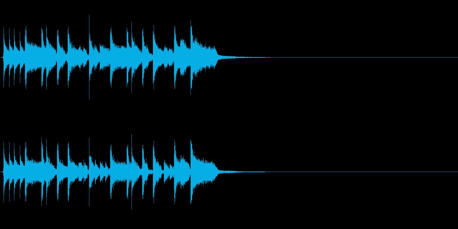 生演奏 ロックファンクなジングル2の再生済みの波形