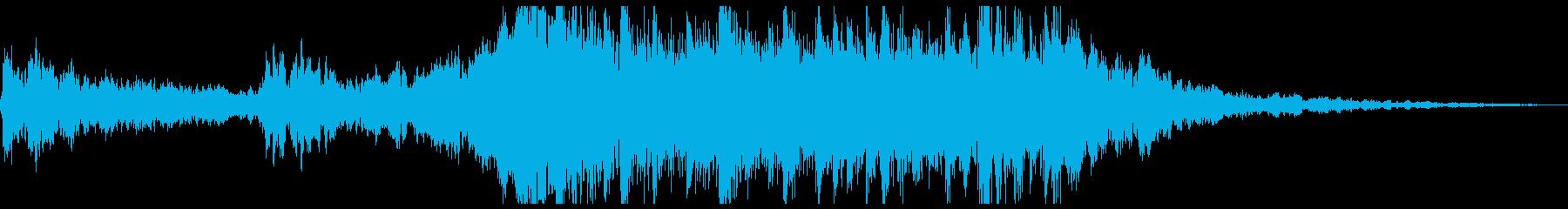 神秘的なコードの動きと異世界のサウ...の再生済みの波形