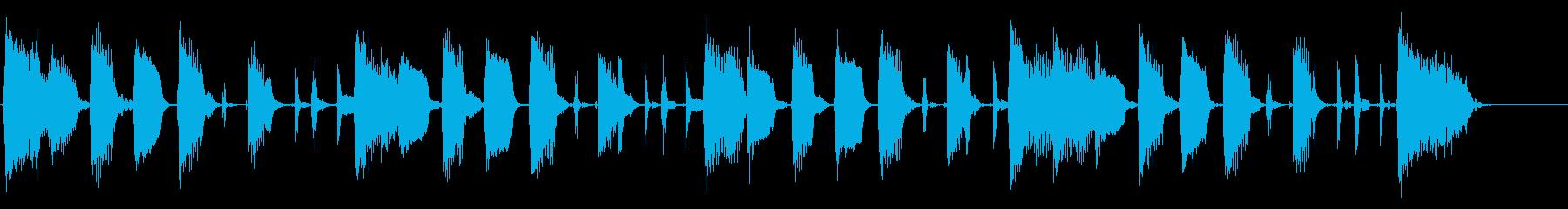エレキギターでシンプルなリズムの再生済みの波形