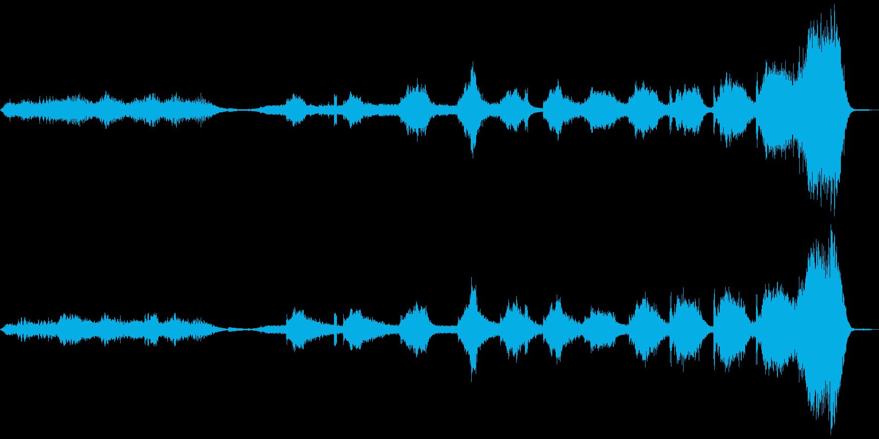 ホラーもので地下水道を探索してる時の曲の再生済みの波形
