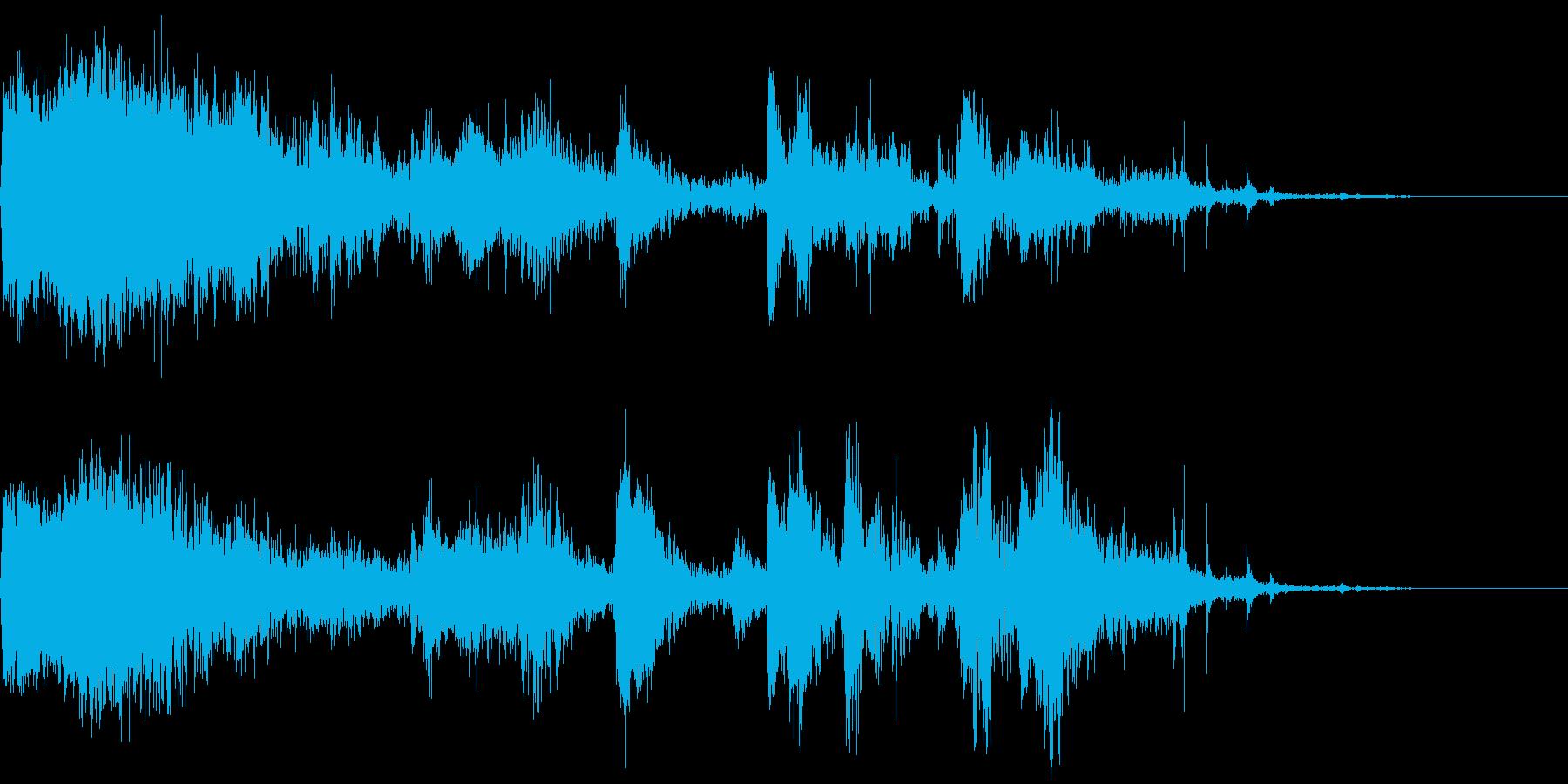 重い影響とロールの再生済みの波形