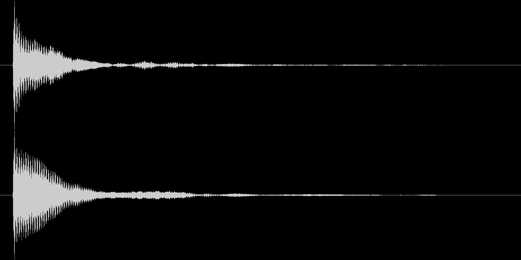 ポン カーソル音 タップ音 G-08_の未再生の波形