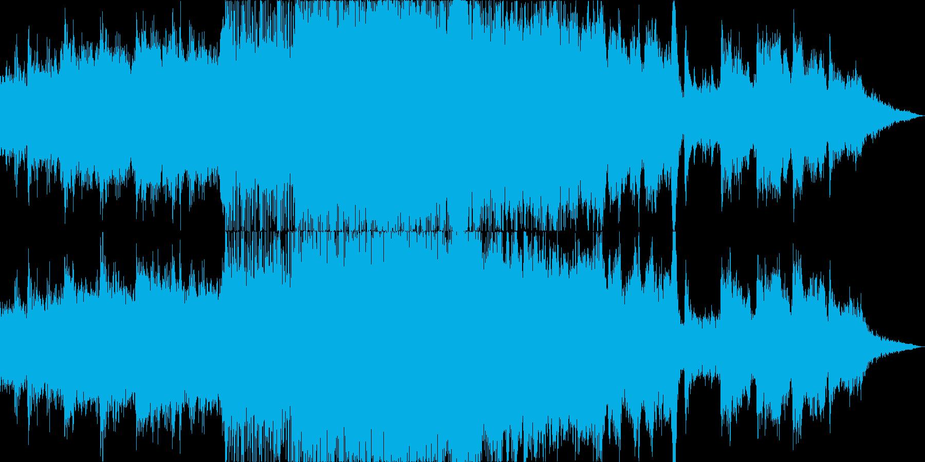 東南アジア風の壮大で民族的なBGMの再生済みの波形
