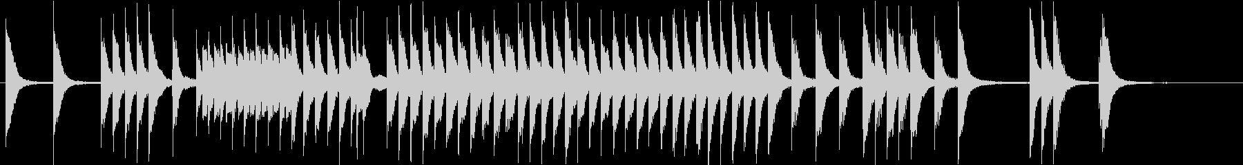 元気で軽快な子供/ペット映像 ピアノソロの未再生の波形