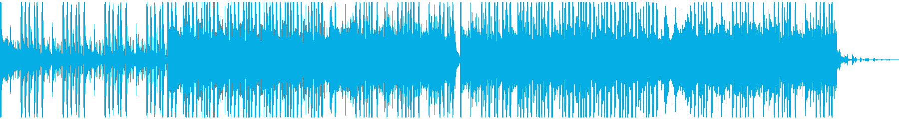 EDM・フューチャーベース風BGMの再生済みの波形