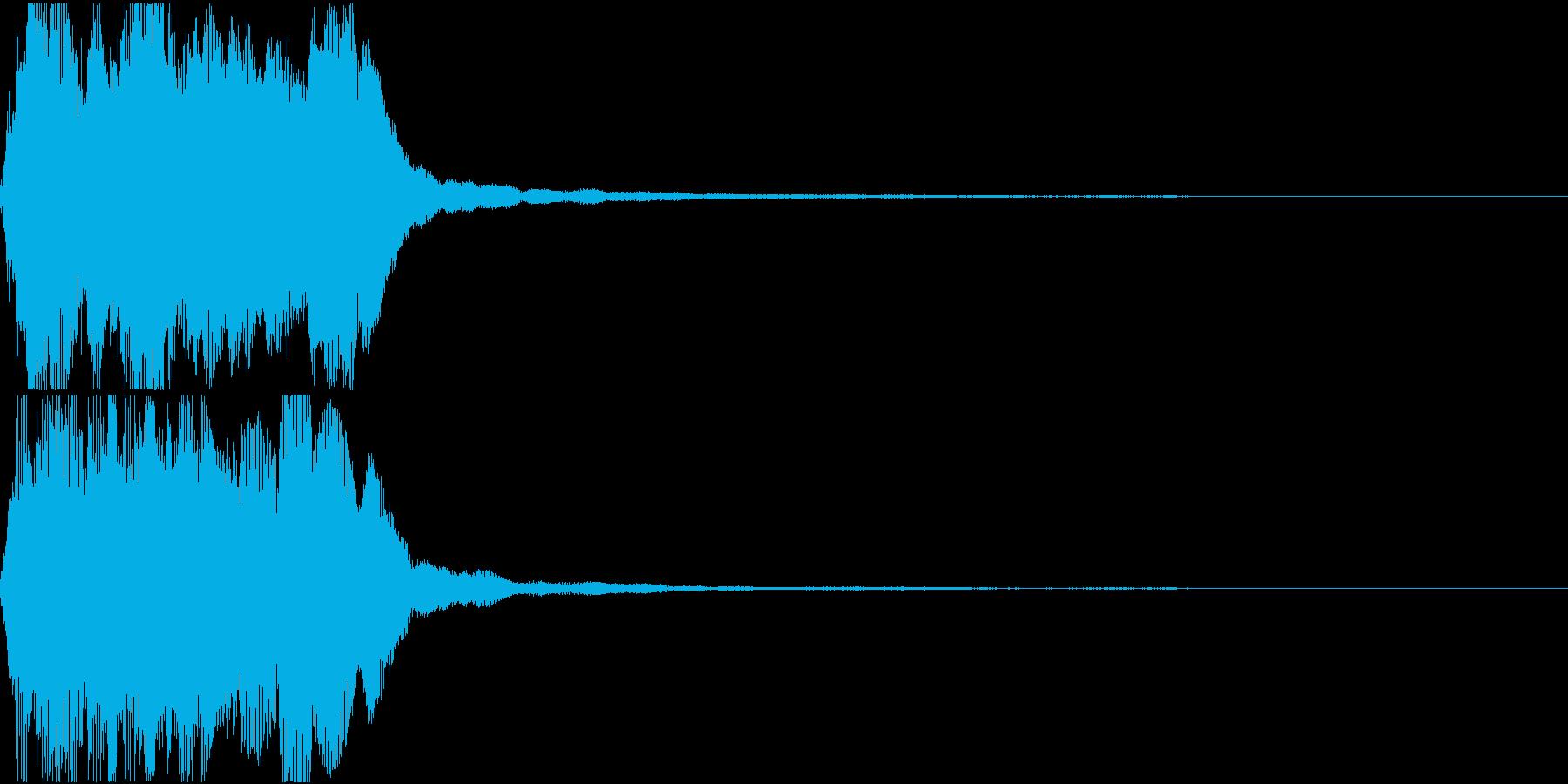 ラッパ ファンファーレ 定番 2の再生済みの波形