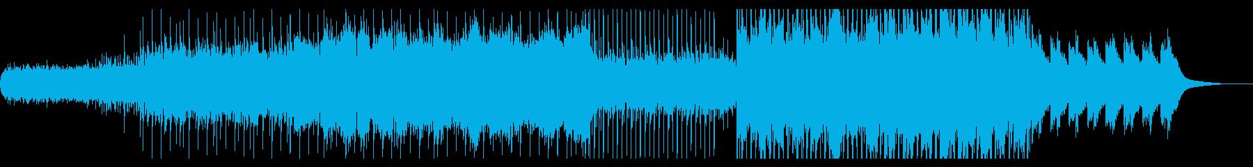 冬をイメージしたエレクトロニカの再生済みの波形