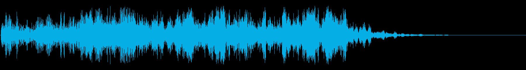 金属格子スイープアクセントの再生済みの波形