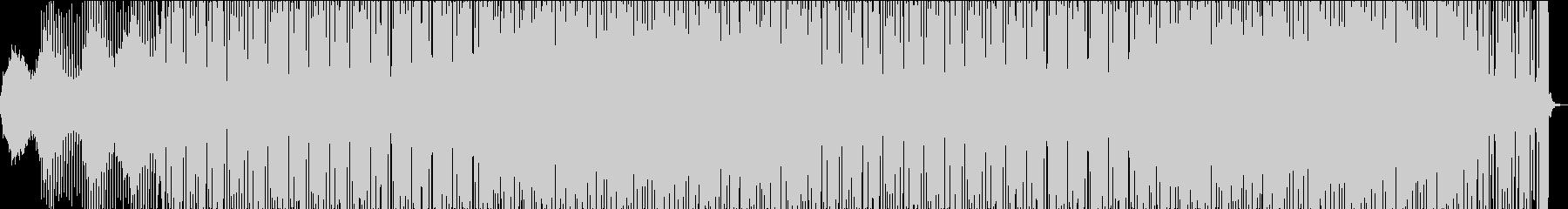クールでダークなミニマル風テクノBGMの未再生の波形