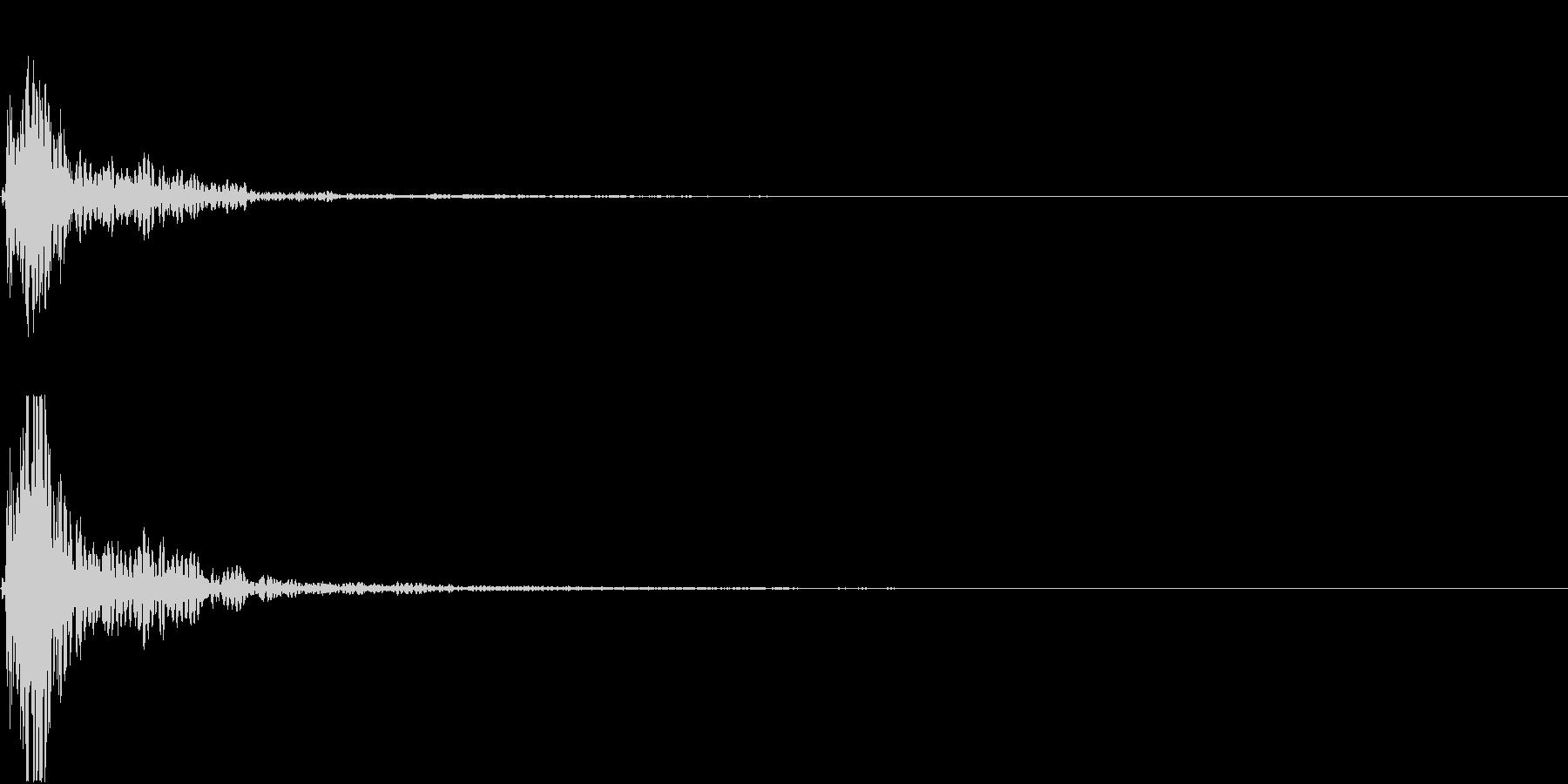 【生録音】蹴る音 キック 再現音 7の未再生の波形