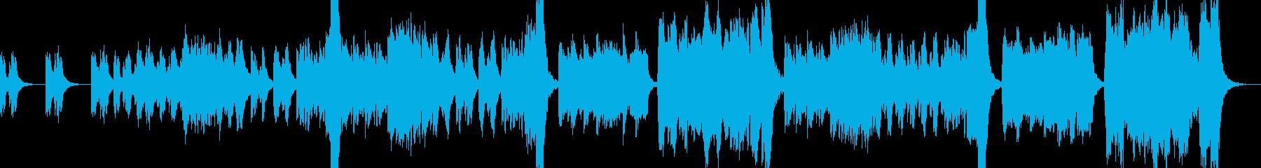 ハロウィンに合うホラー風オーケストラの再生済みの波形