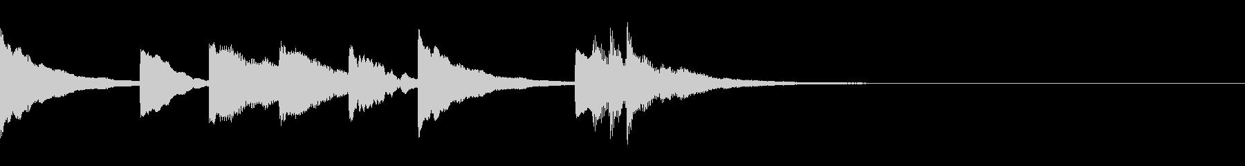 ほのぼの可愛いマリンバの3秒ジングルの未再生の波形