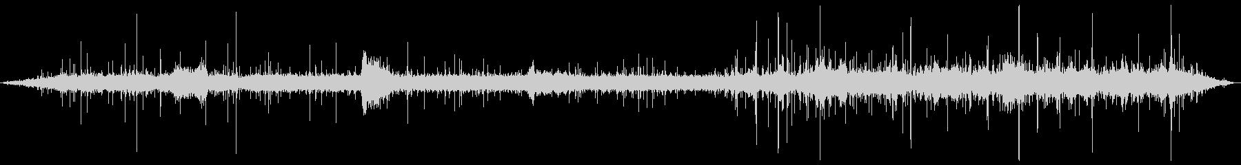 水の音と鳥の鳴き声(ヒーリング音)の未再生の波形