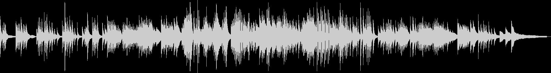 わらべ歌の和風曲2(B)-ピアノソロの未再生の波形