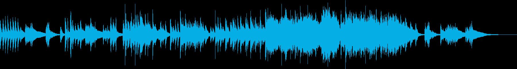 琴を用いた桜の和風のインストの再生済みの波形